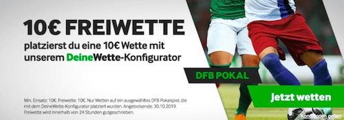 10+10 Promo bei betway zur 2. Runde des DFB-Cups