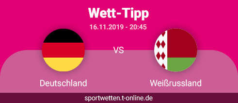Deutschland vs Weißrussland Wett Tipp