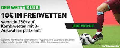 Betway Wettklub 10 Euro Gratis