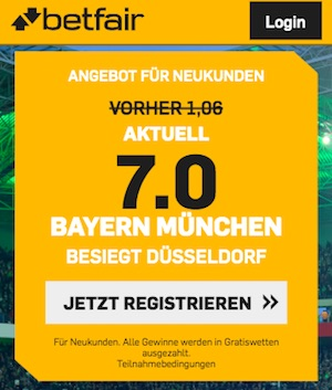 Bayern besiegt Fortuna Quoten Betfair