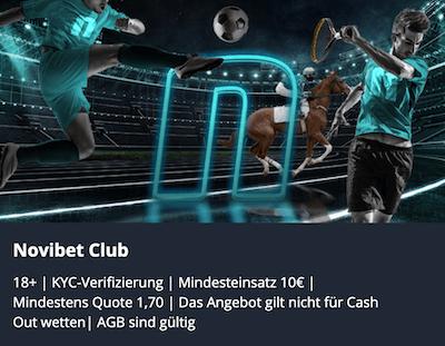 Alle Infos zum Novibet Club für alle Kunden