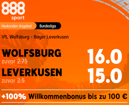 erhöhte Quoten vor Wolfsburg vs Leverkusen am 20.9.2020