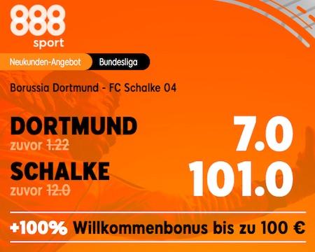 BVB Schalke Boost bei 888sport