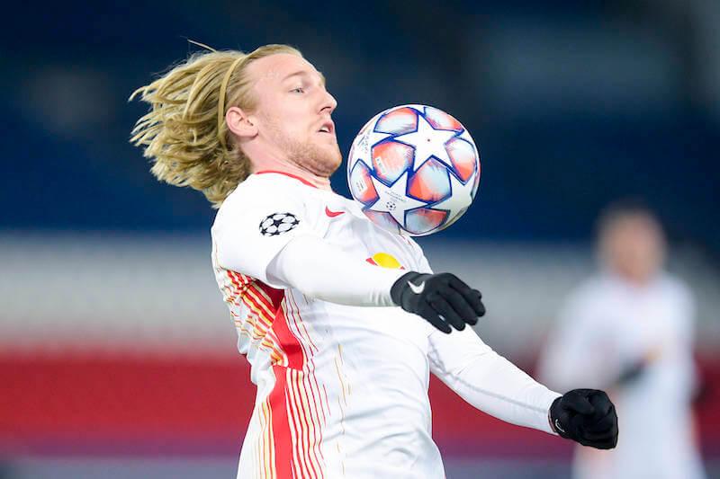 Emil Forsberg ist in guter Form - er will mit Leipzig gegen Bremen gewinnen