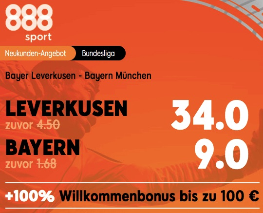 888sport Boost Leverkusen bayern