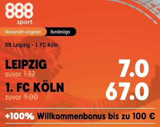 RB Leipzig vs Köln Boost bei 888sport
