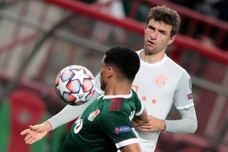 Thomas Müller trifft zuhause mit Bayern auf Lok Moskau
