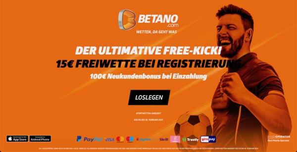 15 Euro Betano Gratiswette