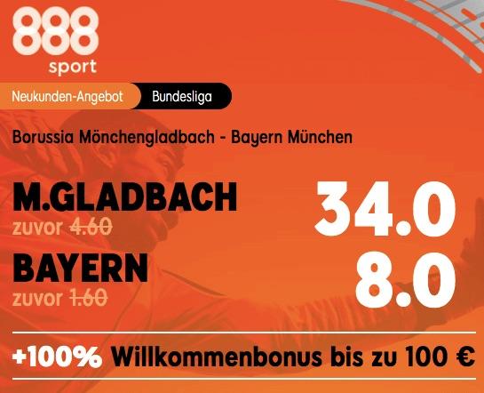 Gladbach vs Bayern München Quoten Boost