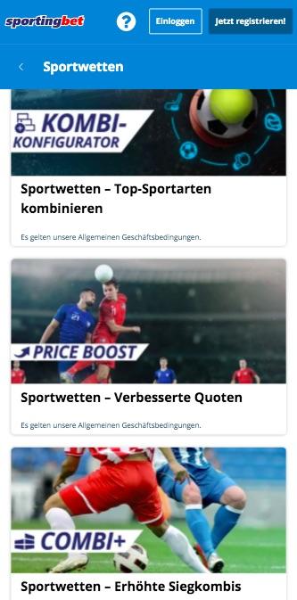 Sportwetten Aktionen Sportingbet
