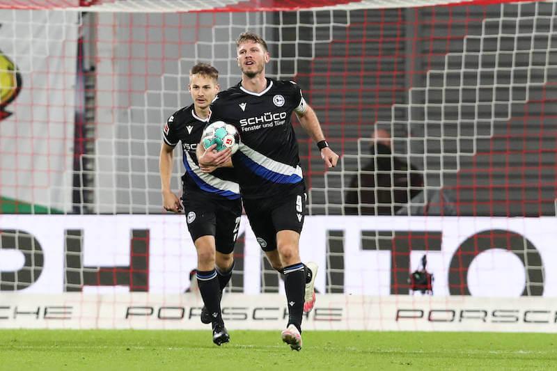 Fabian Klos möchte mit Bielefeld den FC Bayern ärgern