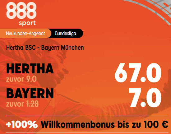 Hertha BSC Berlin vs Bayern München Boost
