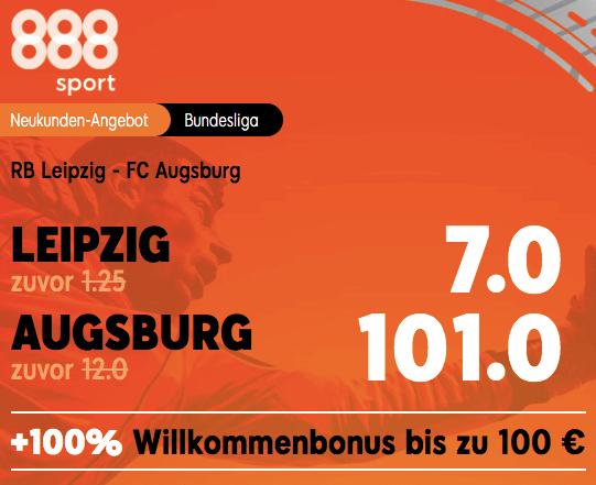 888sport Boost zu RB Leipzig vs Augsburg