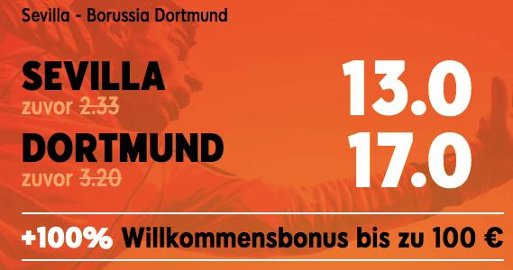 888sport Boost zu Sevilla gegen Dortmund