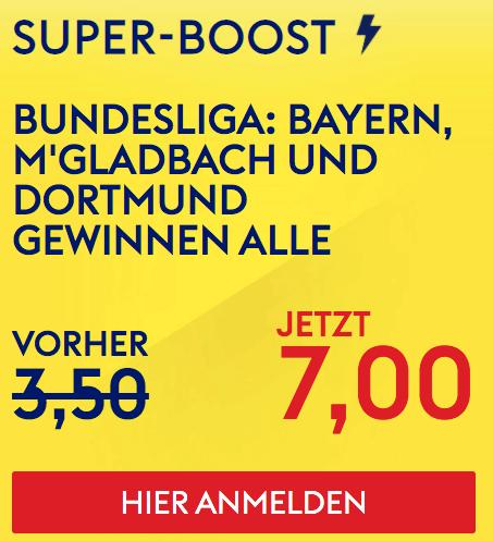 Sky Bet boost zur Bundesliga
