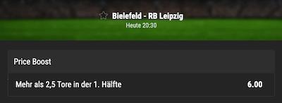 Bwin erhöht die Quote zu Bielefeld gegen RB Leipzig