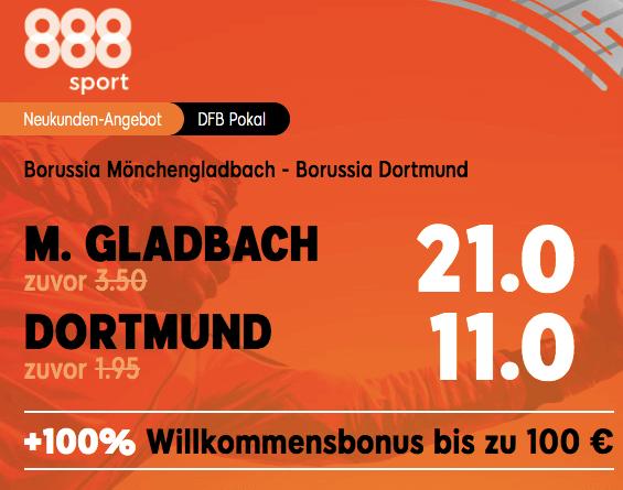 Gladbach vs Dortmund Boost bei 888sport