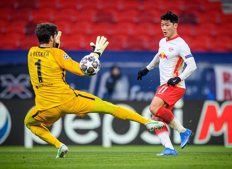 Hwang und RB Leipzig muessen gegen Liverpool ein 0:2 aufholen