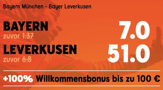 Boost zu Bayern vs Leverkusen