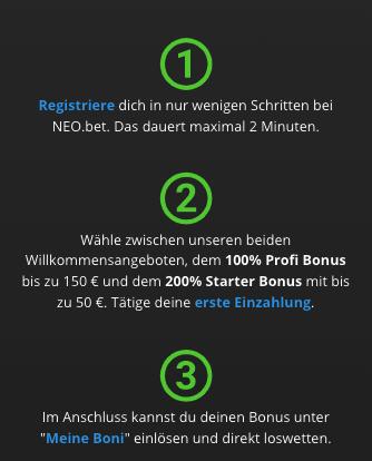 NeoBet Bonus Bedingungen