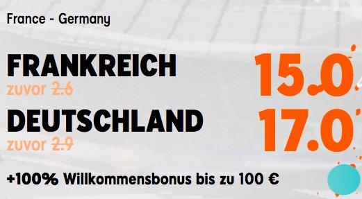 888sport Boost Frankreich vs Deutschland