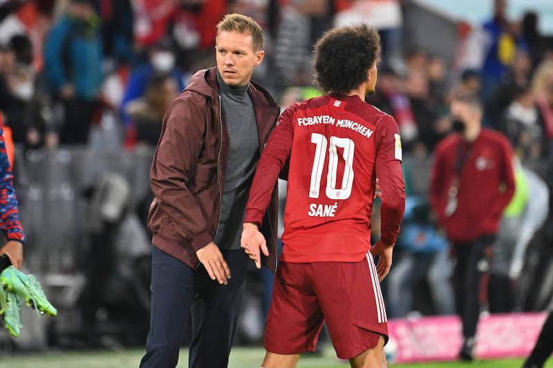 Julian Nagelsmann und Leroy Sane treffen auf RB Leipzig