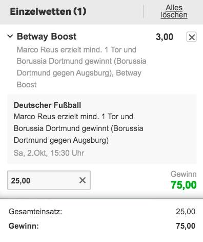 Betway Boost BVB Augsburg