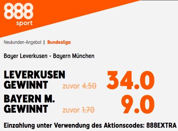 888sport Boost Bayer vs Bayern